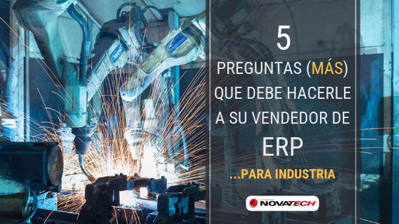 ERP para industria manufacturera
