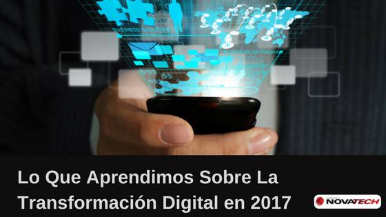Lecciones de Transformación Digital 2017