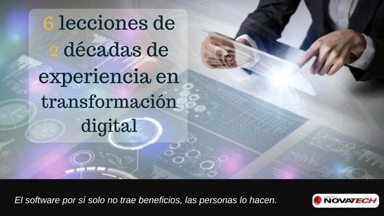 Lecciones de 2 décadas de experiencia en transformación digital